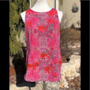 "CAbi sz S ""Jubilee"" colorful tank blouse top shirt"